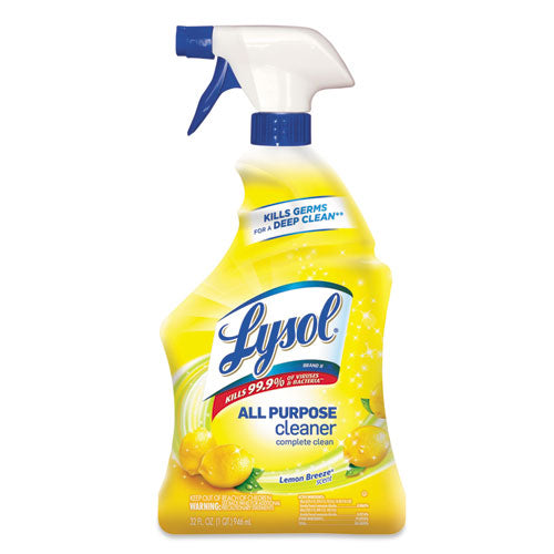 Lysol Ready-to-Use All-Purpose Cleaner, Lemon Breeze, 32 oz Spray Bottle, 12/Carton - RAC75352CT