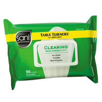 Sani Professional Multi-Surface Cleaning Wipes, 11 1/2 X 7, White, 90 Wipes/Pack, 12 Packs/Carton - NICA580FW