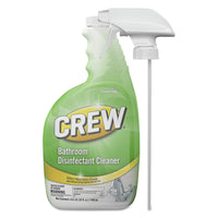 Diversey Crew Bathroom Disinfectant Cleaner, Floral Scent, 32 Oz Spray Bottle, 4/Ct - DVOCBD540199