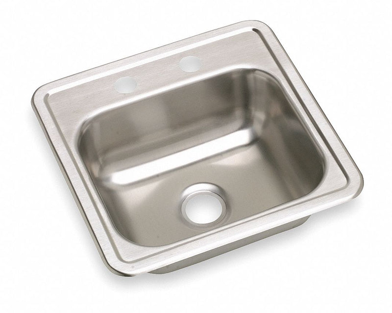 Elkay 15 in x 15 in x 5 3/16 in Drop-In Sink with Faucet Ledge with 12 in x 10 in Bowl Size - K115152