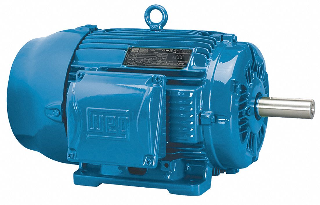 WEG 1 HP, General Purpose Motor, 3-Phase, 875 Nameplate RPM, 230/460 Voltage, 182T Frame - 00109ET3E182T-W22