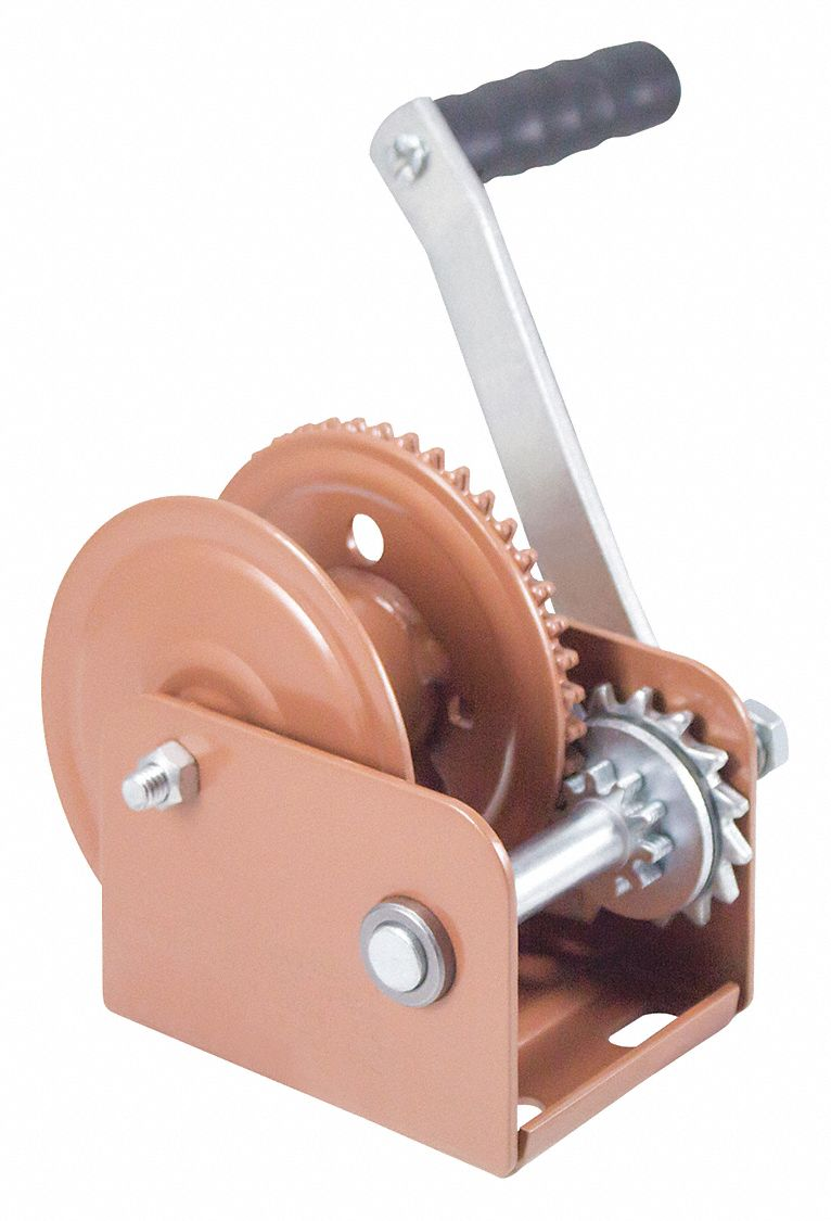 Dutton-Lainson 5 1/2 inH Lifting Hand Winch with 800 lb 1st Layer Load Capacity; Brake Included: Yes - DLB800A