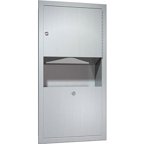 ASI 0462-AD Paper Towel Dispenser And Waste Receptacle, Recessed