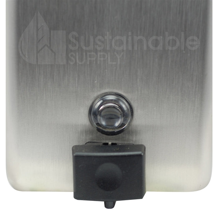 Bobrick B-2111 Commercial Soap Dispenser, Stainless Steel, Surface Mount