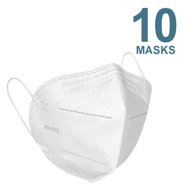 KN95 Protective Face Masks, 5 Layers of Protection, Pack of 10 - KN95-FM-10