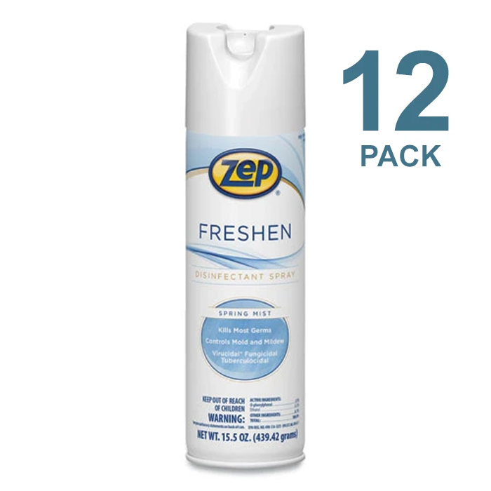 Zep Freshen Disinfectant Spray, Kills COVID-19 Virus, 15.5 Oz, 12/Case, ZPP1050017