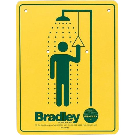 Bradley 114-050 Safety Sign Shower