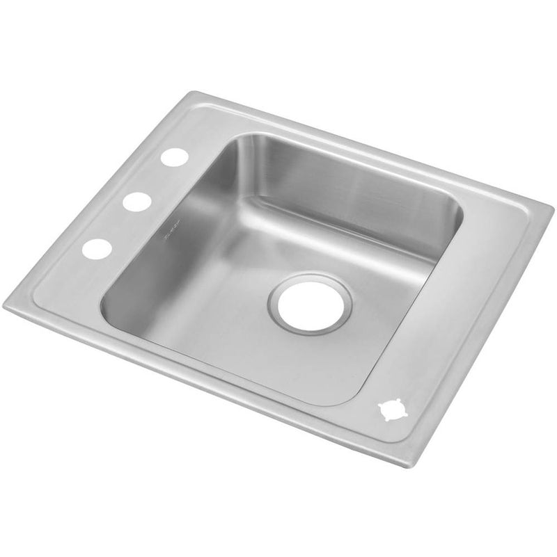 Elkay DRKAD2220502LM 18 Gauge Stainless Steel 22' x 19.5' x 5' Single Bowl Top Mount Sink