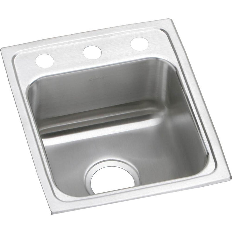 Elkay LRAD1517502 18 Gauge Stainless Steel 15' x 17.5' x 5' Single Bowl Top Mount Kitchen Sink