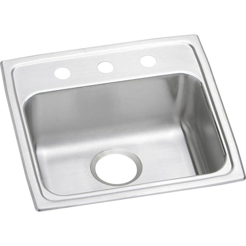 Elkay LRAD1919651 18 Gauge Stainless Steel 19.5' x 19' x 6.5' Single Bowl Top Mount Kitchen Sink