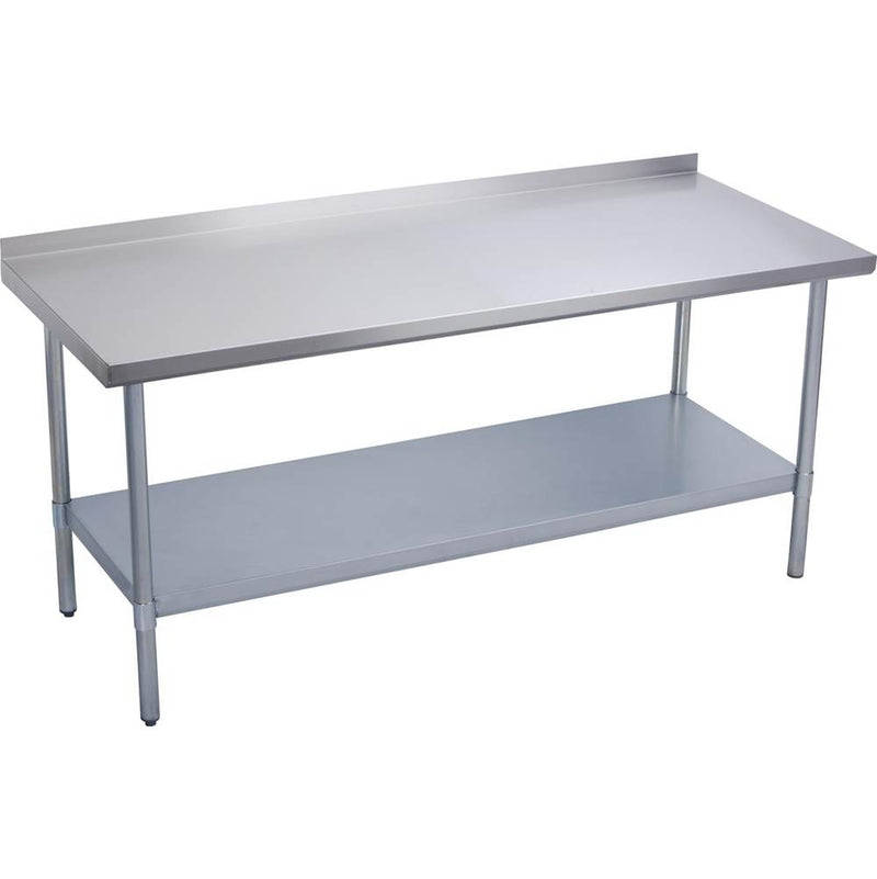 "Elkay EWT24S30-STG-2X Economy Work Table, Stainless Steel Under Shelf, 2"" Backsplash, 30 (L) X 24 (W) X 36 (H) Over All"