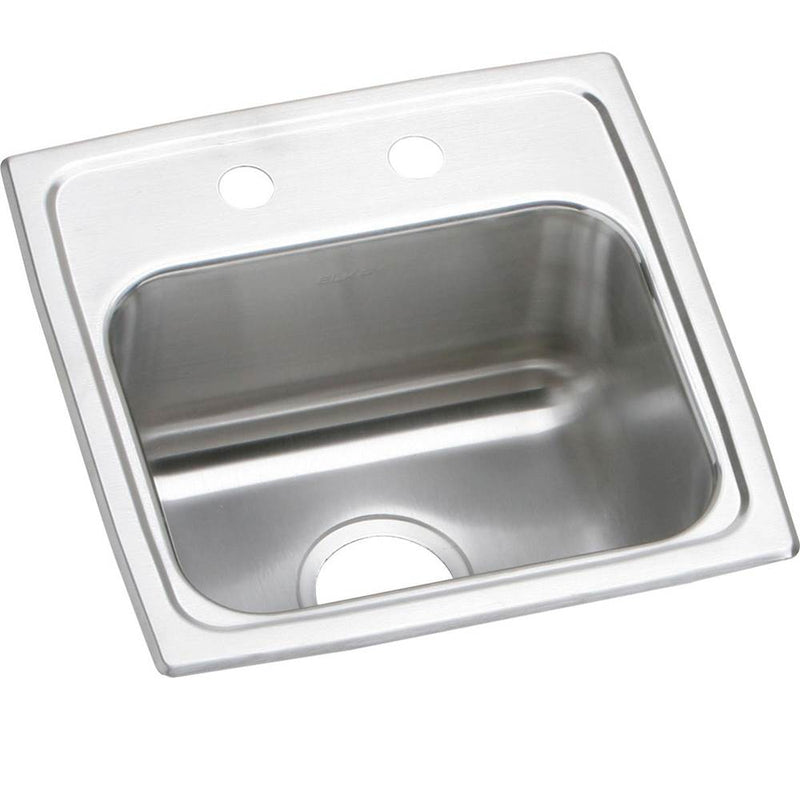 Elkay BLR15162 18 Gauge Stainless Steel 15' x 15' x 7.125' Single Bowl Top Mount Bar/Prep Sink