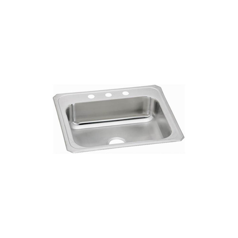 Elkay CR25214 20 Gauge Stainless Steel 25' x 21.25' x 6.875' Single Bowl Top Mount Kitchen Sink