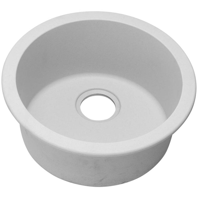 Elkay ELG16FBWH0 Elkay Quartz Classic 18-1/8' x 18-1/8' x 7-1/2' Single Bowl Dual Mount Bar Sink, White