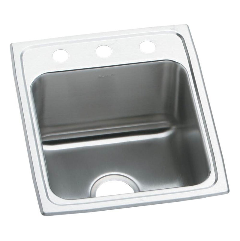 Elkay LRAD1522602 18 Gauge Stainless Steel 15' x 22' x 6' Single Bowl Top Mount Kitchen Sink