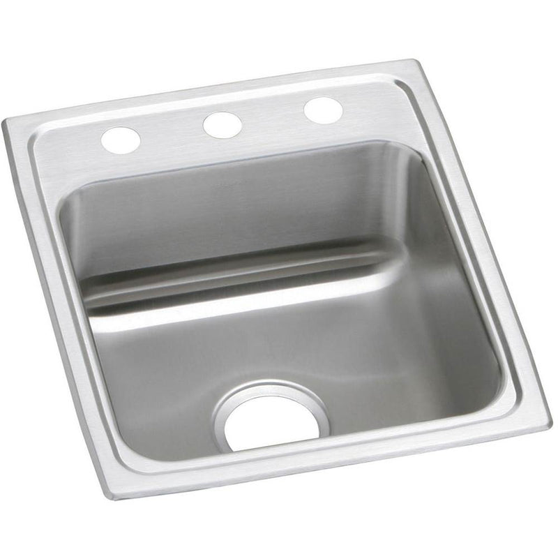 Elkay PSR17203 20 Gauge Stainless Steel 17' x 20' x 7.125' Single Bowl Top Mount Kitchen Sink