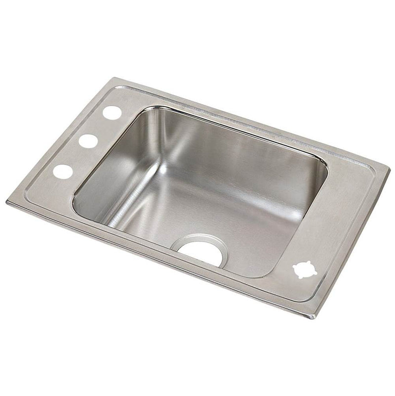 Elkay DRKAD2517652LM 18 Gauge Stainless Steel 25' x 17' x 6.5' Single Bowl Top Mount Sink
