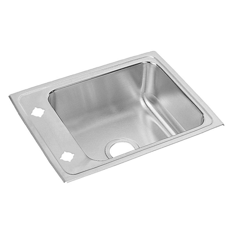 Elkay DRKADQ2217601 18 Gauge Stainless Steel 22' x 17' x 6' Single Bowl Top Mount Sink