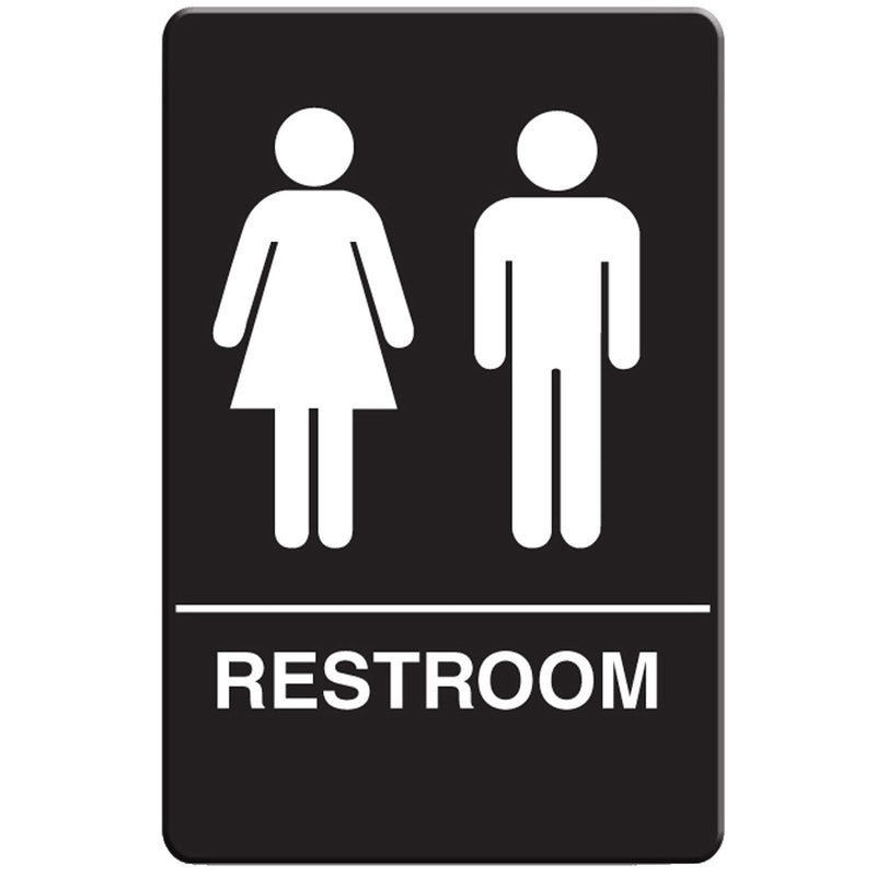 VISTA Unisex Restroom Sign, Black - RS6003