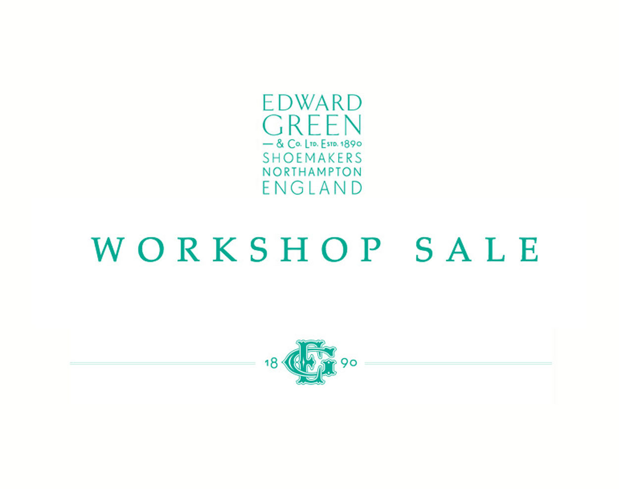 Edward Green workshop sale - significant savings on England's finest