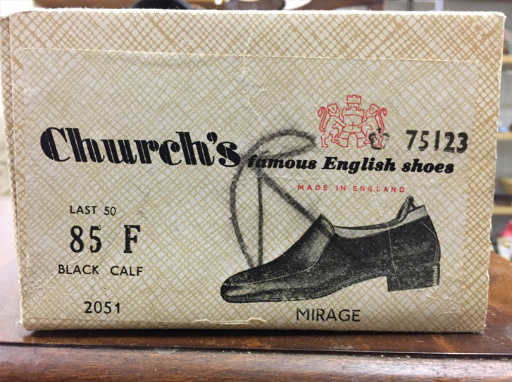 Church's vintage black calf loafers