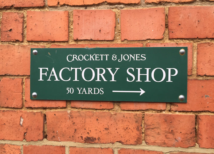 Crockett & Jones factory shop weekend opening times