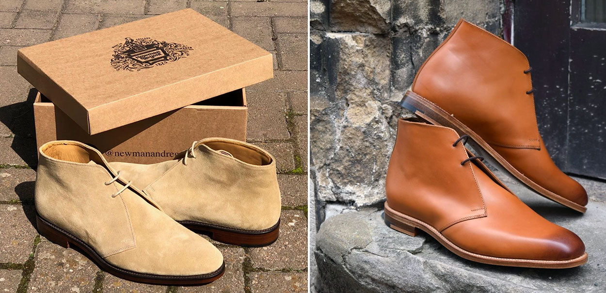 Newman and Regent chukka boots