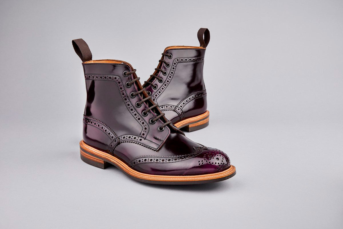 Tricker's brogue boots