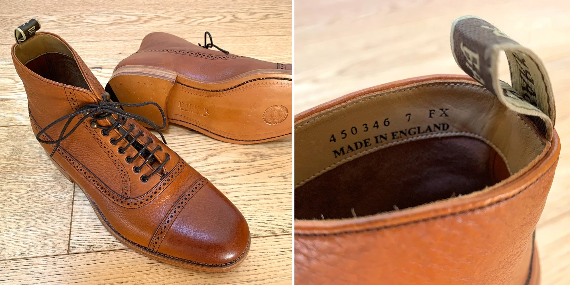 Barker Foley Toe-Cap Boot - Made in England
