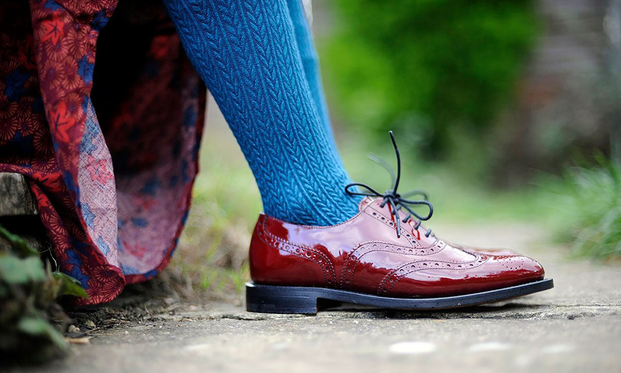NPS Charlotte brogues red patent
