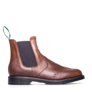 Solovair Dealer Brogue Boots - Gaucho Crazy Horse