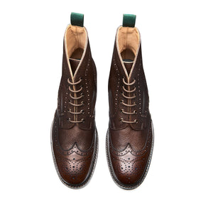 NPS Heath 6 Eye Derby Boots - Walnut Brown