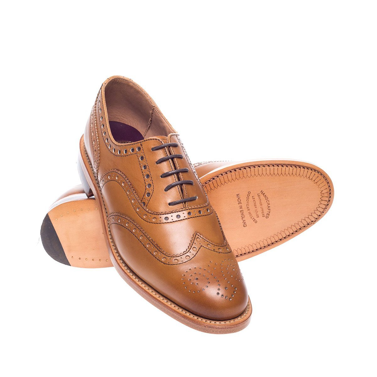 NPS Charlotte Oxford Brogue Shoe - Acorn Calf