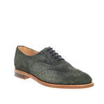 NPS Charlotte Oxford Brogue Shoe - Green Suede