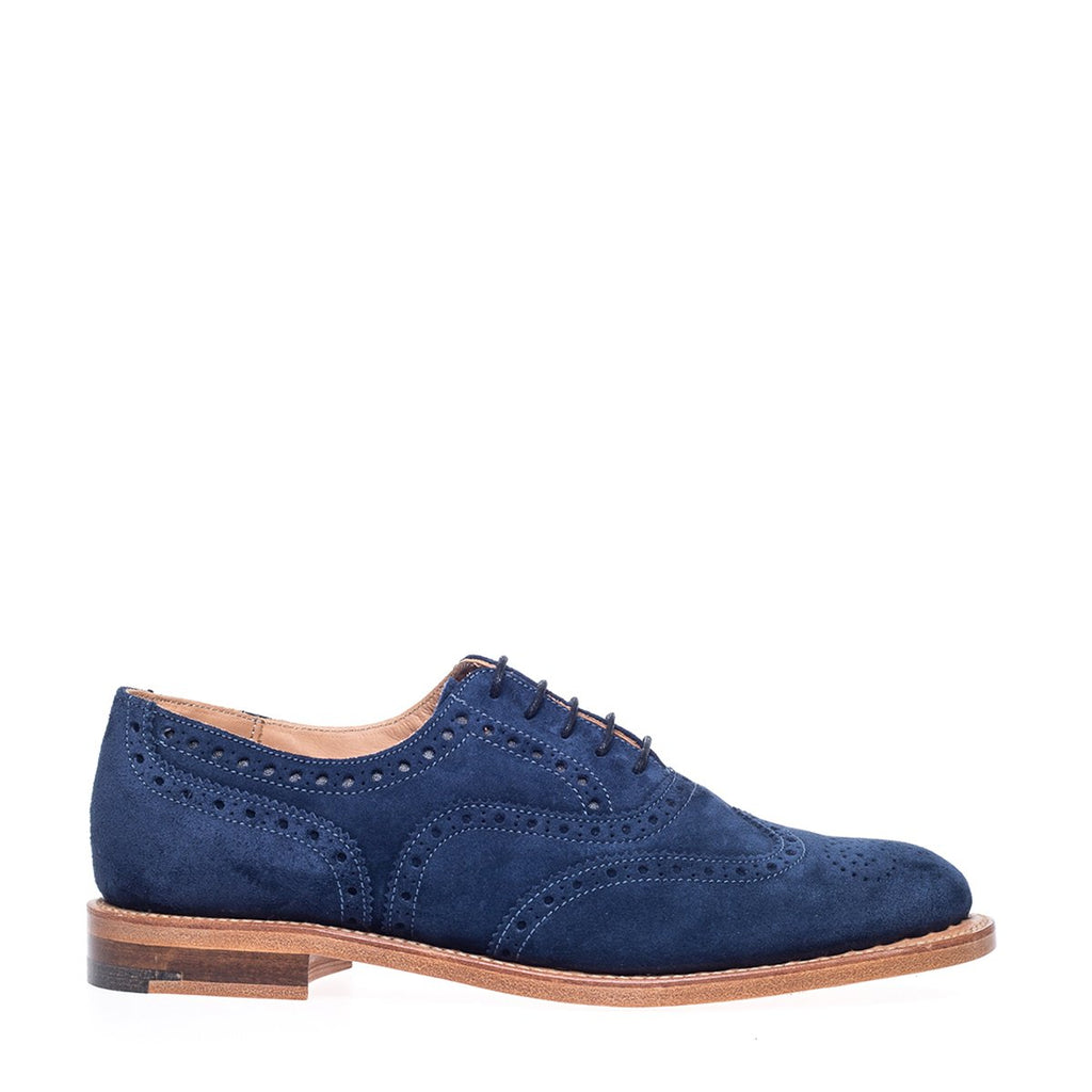 NPS Charlotte Oxford Brogue Shoe - Navy Suede