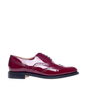 NPS Charlotte Oxford Brogue Shoe - Red Patent