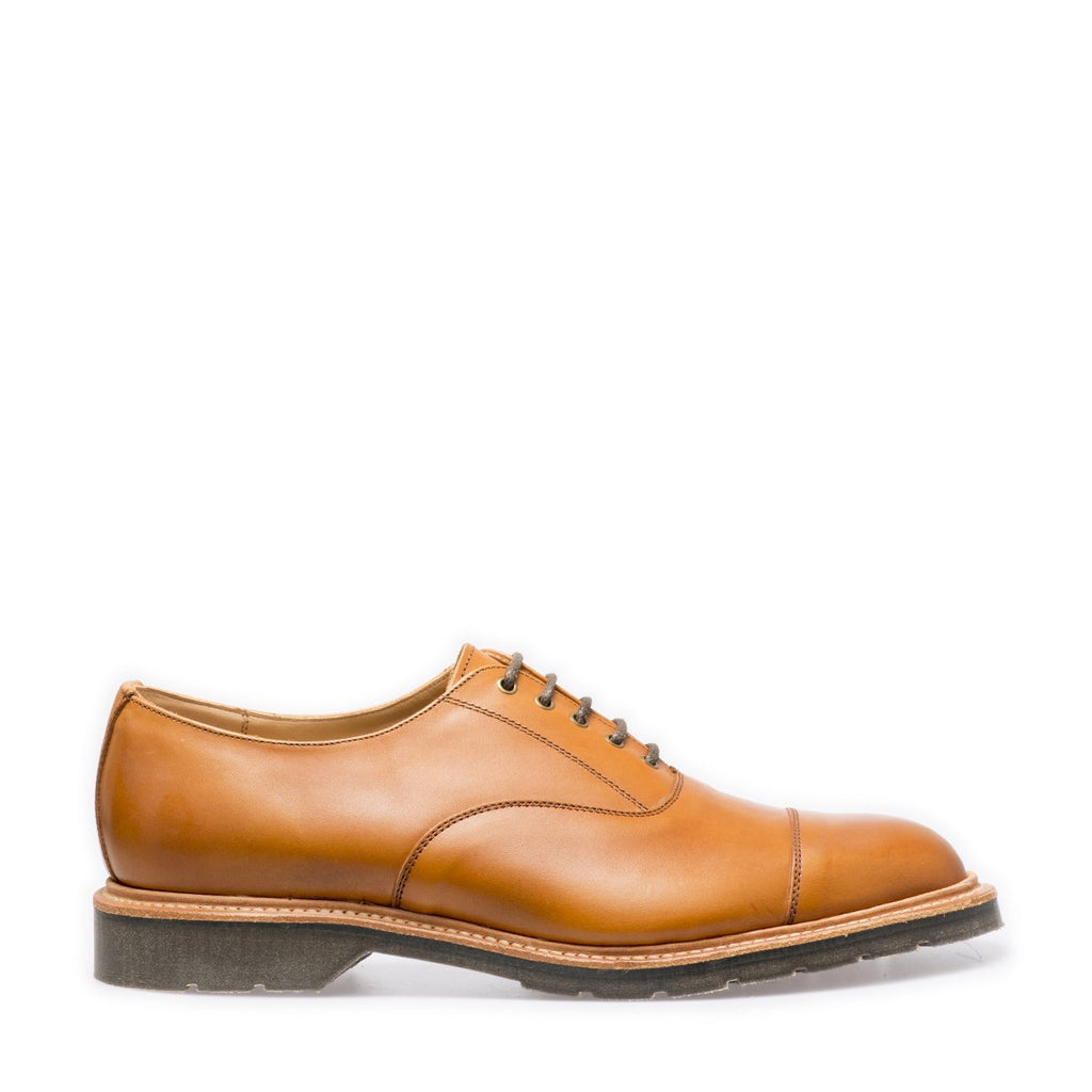 Solovair Capped Oxford Shoe - Acorn Calf