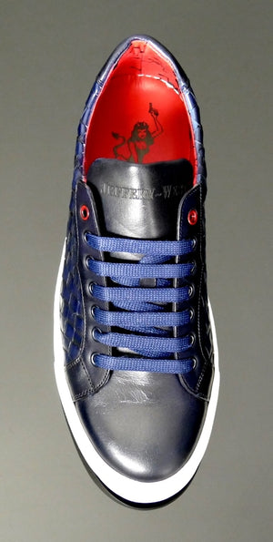 Jeffery West K354 Weave Sneaker - Navy