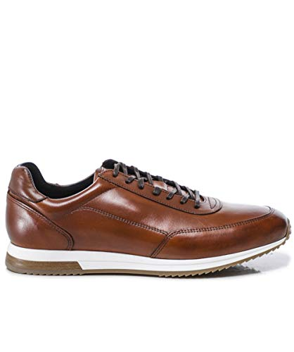 Loake Bannister Leather Sneaker - Brown