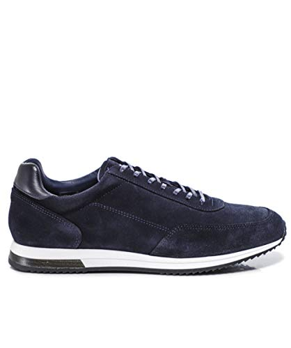 Loake Bannister Suede Sneaker - Blue