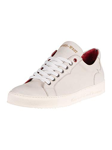 Jeffery West Leather Sneaker - White