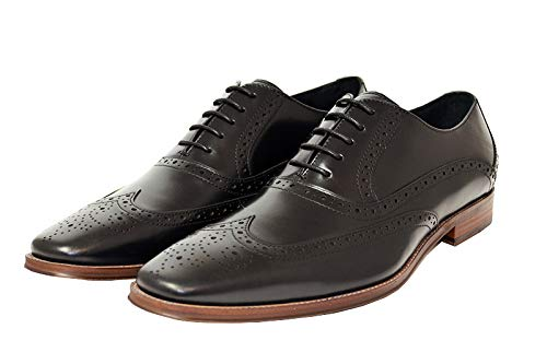 John White Hercules Oxford Brogues - Black