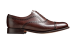 Barker Southampton Oxford Semi Brogue - Dark Walnut Calf