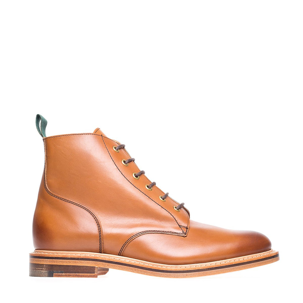 NPS Gladstone 6 Eye Derby Boot - Acorn Calf