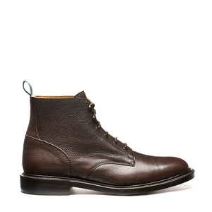 NPS Chamberlain 6 Eye Derby Boot - Walnut Brown Calf
