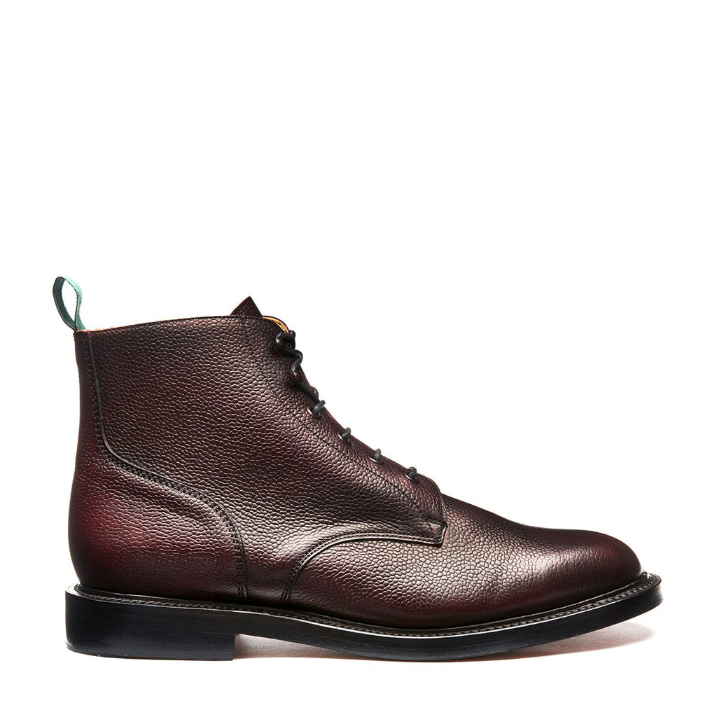 NPS Chamberlain 6 Eye Derby Boot - Burgundy Calf