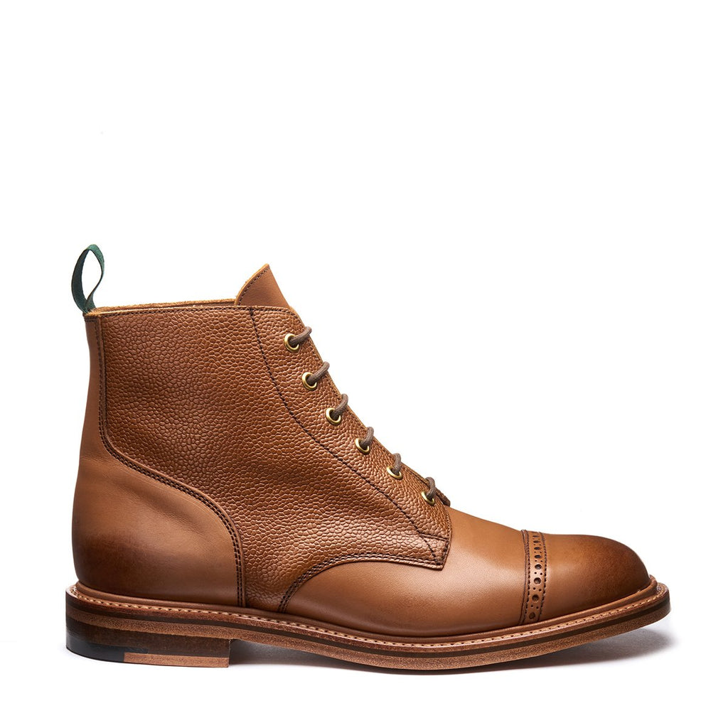 NPS Eden 6 Eye Derby Boot - Acorn Calf
