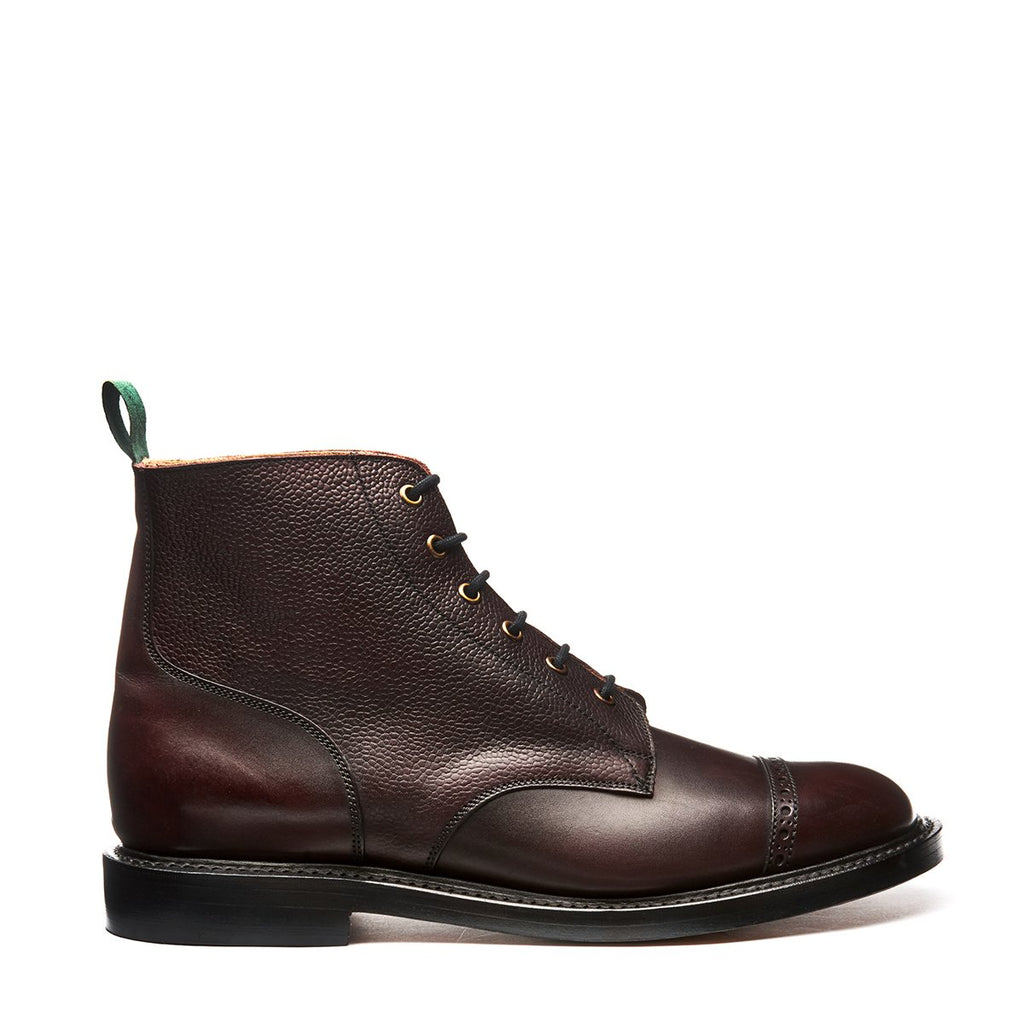 NPS Eden 6 Eye Derby Boot - Burgundy Calf