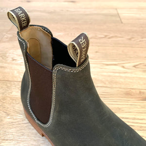 Barker Mansfield Chelsea Boots - Green Waxy Suede
