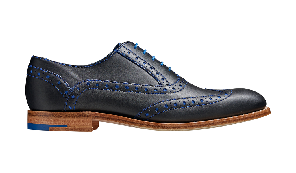Barker Grant Brogue - Navy / Classic Blue Calf